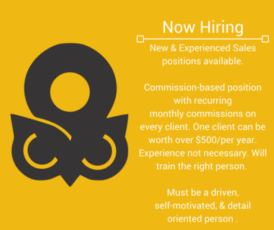 Now Hiring New & Experienced Sales Reps